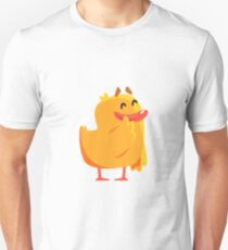Happy Duckling Cute Character Sticker T-Shirt