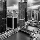 High rise Chicago River view  by Sven Brogren