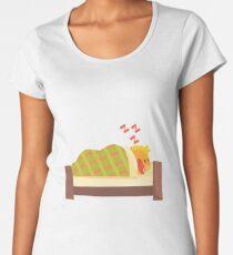 Sleeping Duckling Cute Character Sticker Women's Premium T-Shirt