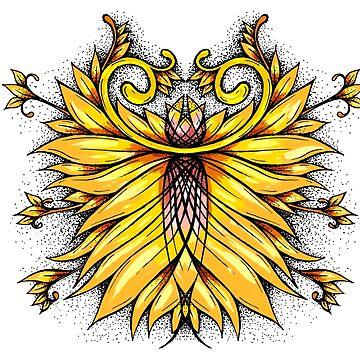 Golden flower by rafo
