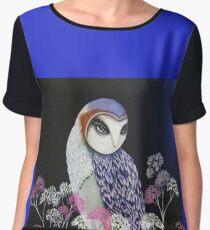 Barn Owl By Noelia Garcia  Chiffon Top