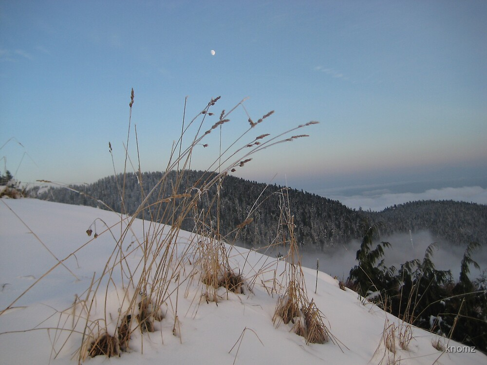 Dusk on the snow cap by knomz