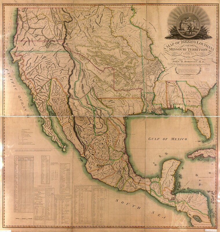1826 - Map of North America, México, Louisiana, and the Missouri Territory
