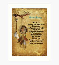 Dreamcatcher Apache blessing Art Print