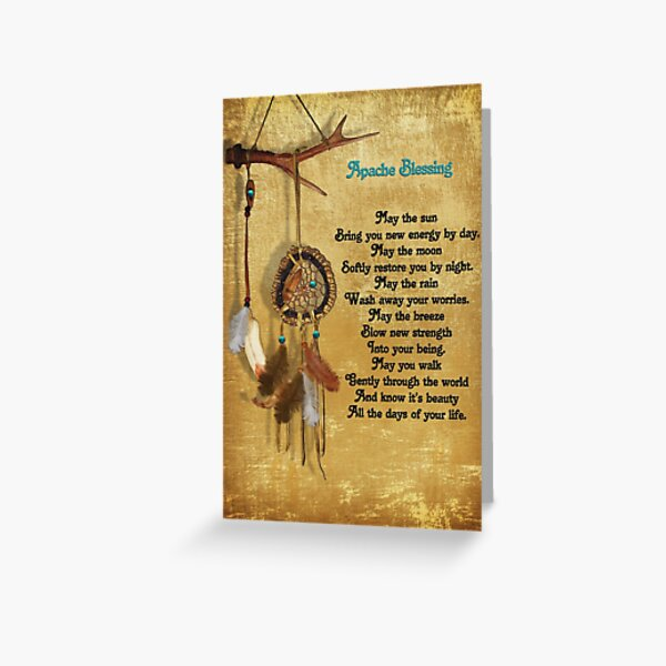 Dreamcatcher Apache blessing Greeting Card