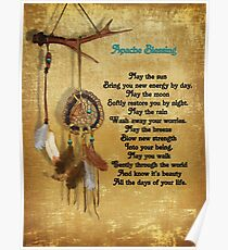 Dreamcatcher Apache blessing Poster