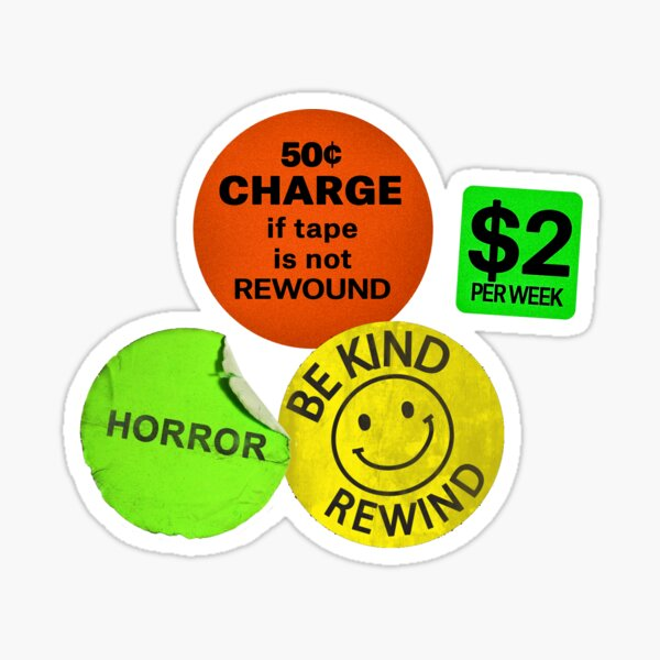Be Kind Rewind, Stickers, VHS tape Sticker