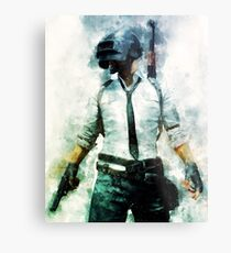 PUBG - Watercolor Painting The Unknown Metal Print
