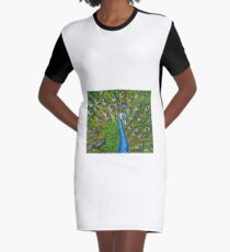 Peacock Graphic T-Shirt Dress