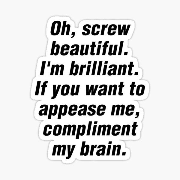 Felicitar a mi cerebro {FULL} Pegatina