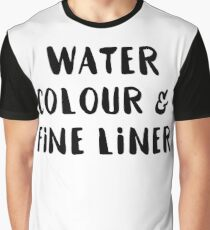 Watercolour and Fine Liner Graphic T-Shirt
