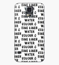 Watercolour and Fine Liner Case/Skin for Samsung Galaxy
