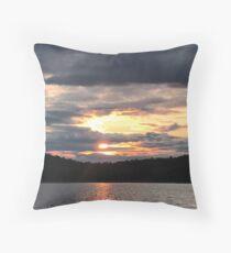 Sun Setting on the Horizon Throw Pillow