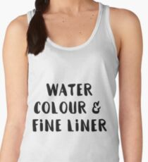 Watercolour and Fine Liner Women's Tank Top