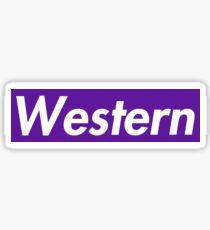 Western University Supreme Parody Sticker