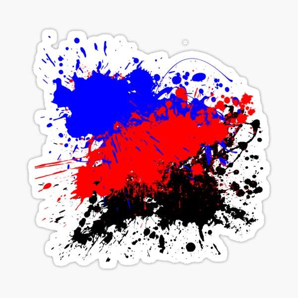 Paint Splatter (Polyamorous) Glossy Sticker
