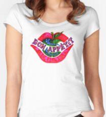 KP UNIQUE - BON APPETIT Women's Fitted Scoop T-Shirt