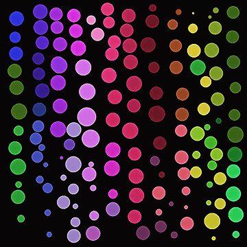 Dot Dance on Black by BettyMackey