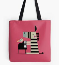 Music Zebra Tote Bag