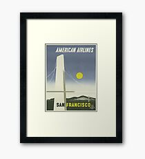 Vintage Travel Poster - San Francisco by American Airlines	 Framed Print