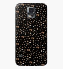 White brown watercolor specks on a black background Case/Skin for Samsung Galaxy