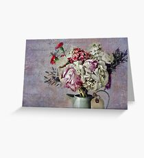 Peonies, Carnations, Roses, Oh My! Greeting Card