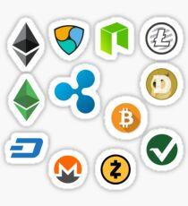 Crypto-Band # 1 (BTC, LTC, ETH, ETC, DASH, DOG, VTC, XEM, NEM, XRP, ZEC, NEO) Sticker