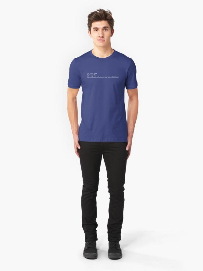 Alternate view of Copyright Me 2017 Slim Fit T-Shirt