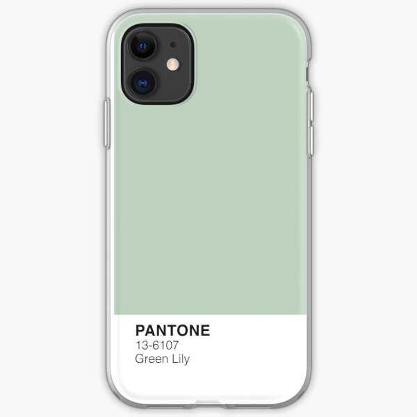 Green Lily Pantone Funda blanda para iPhone