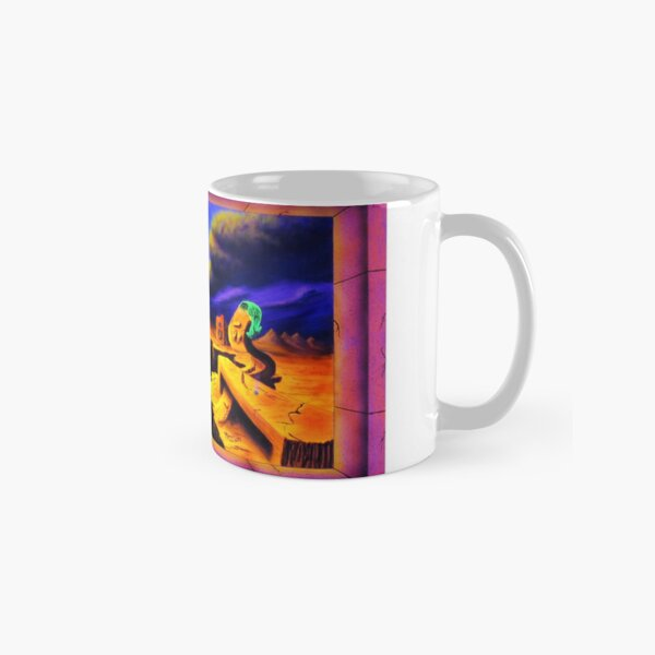 Psychedelic Surrealism Trippy Psy Art - Superficial Diversion -  by Vincent Monaco Classic Mug