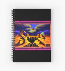 Psychedelic Surrealism Trippy Psy Art - Superficial Diversion -  by Vincent Monaco Spiral Notebook