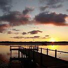 Sunrise over Lake Joondalup by Andreas Koepke