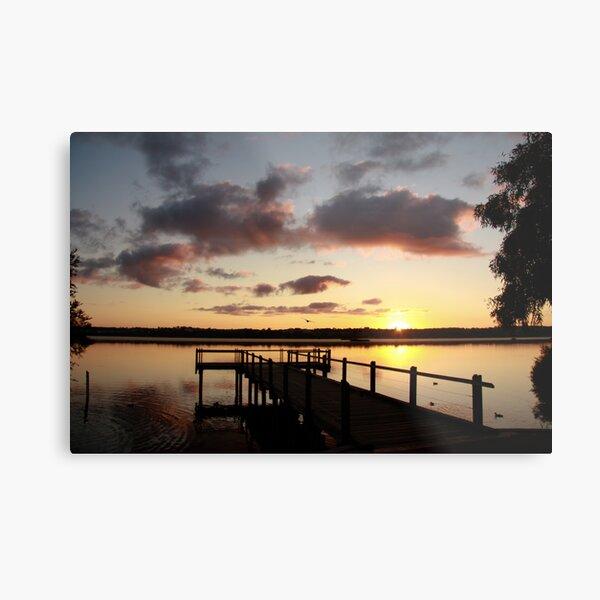 Sunrise over Lake Joondalup Metal Print