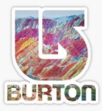 Burton Rainbow Mountains Sticker