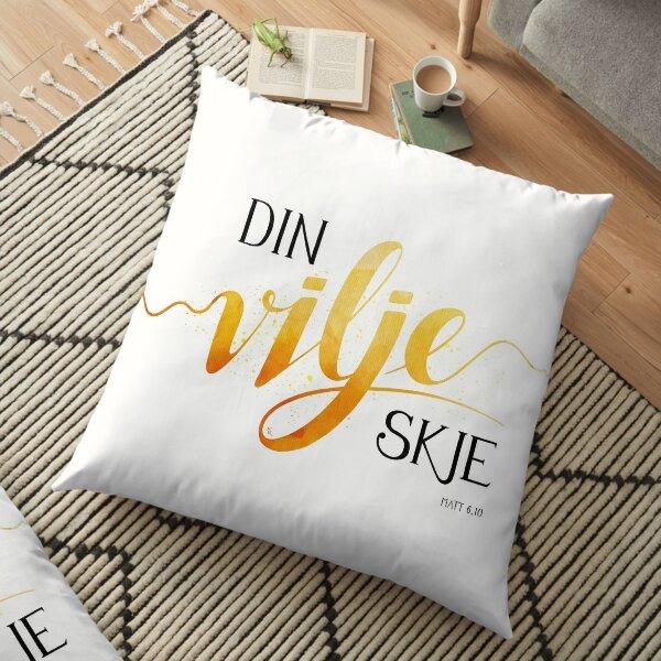 Din vilje skje Floor Pillow