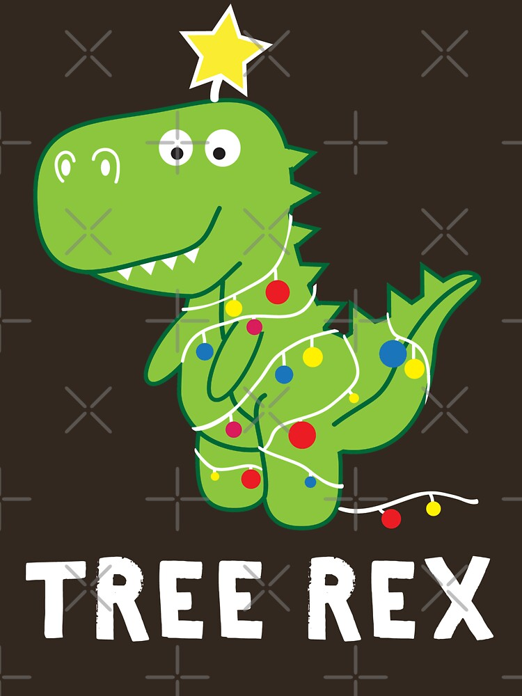 Funny Christmas Dinosaur Tree Rex by teemaniac