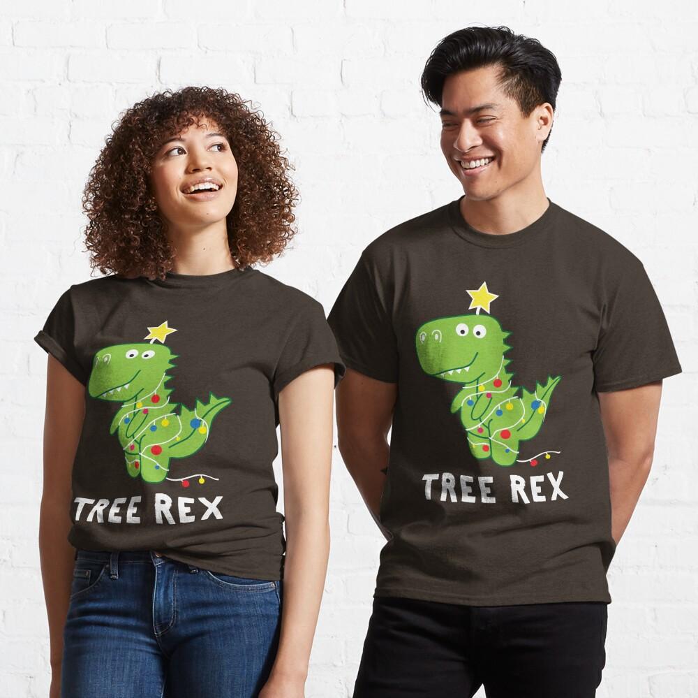 Funny Christmas Dinosaur Tree Rex Classic T-Shirt