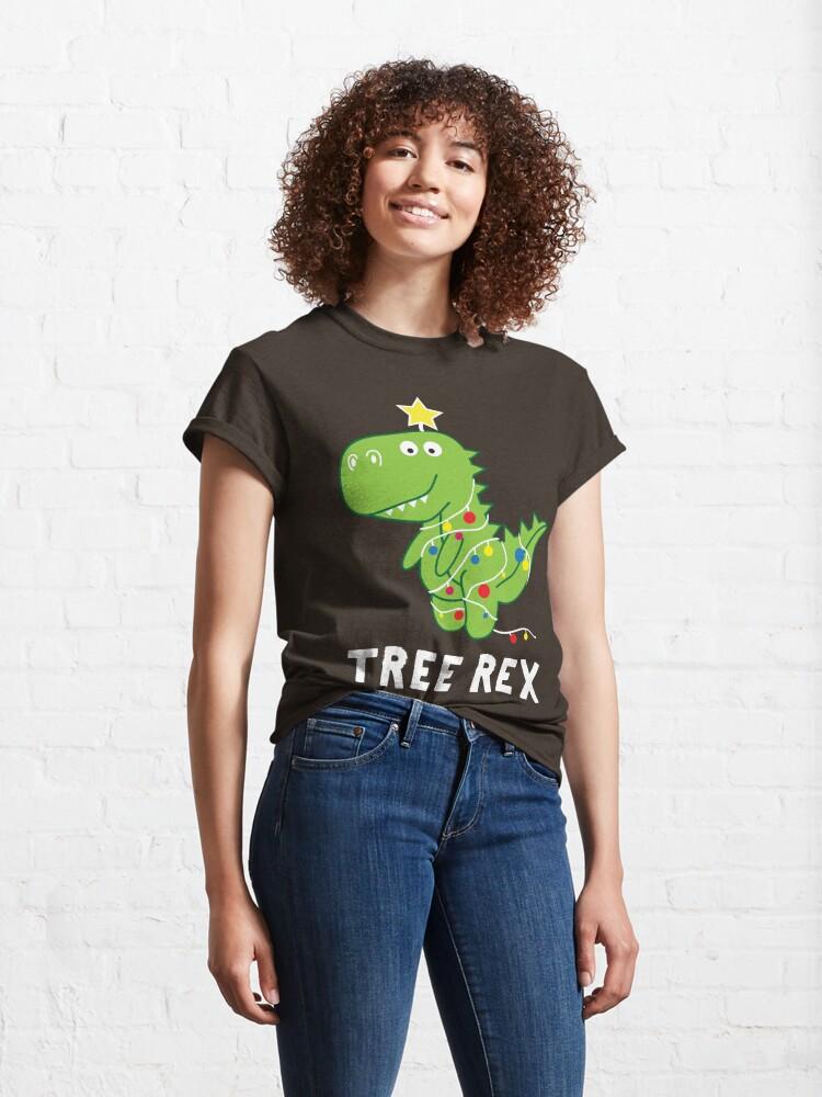 Alternate view of Funny Christmas Dinosaur Tree Rex Classic T-Shirt