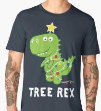 Funny Christmas Dinosaur Tree Rex Men's Premium T-Shirt