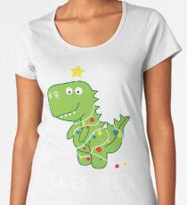 Funny Christmas Dinosaur Tree Rex Women's Premium T-Shirt