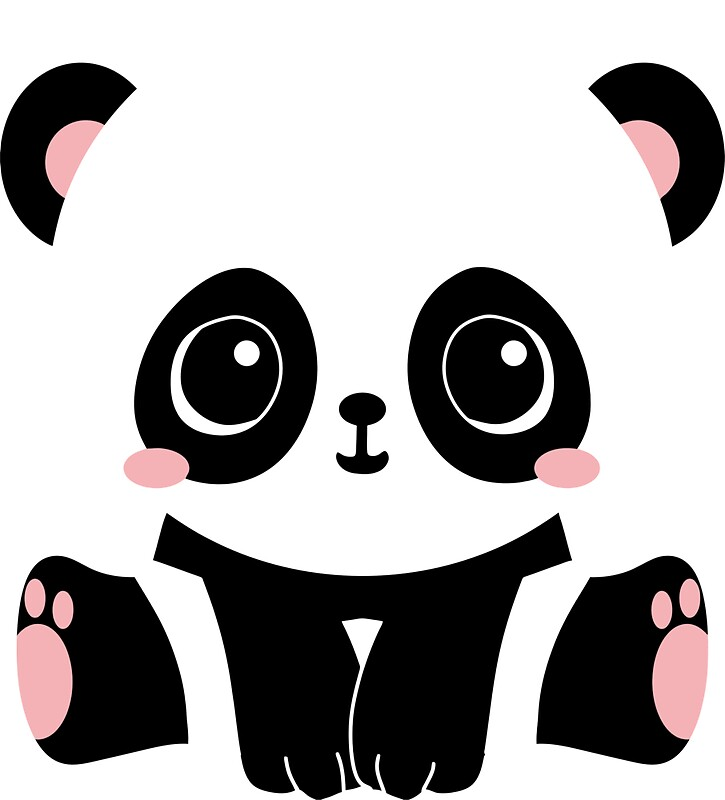 Quot Kawaii Panda Quot Stickers By Reethes Redbubble