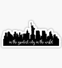 Pegatina Nueva York: la ciudad más grande del mundo