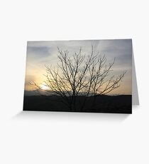The bitter sunset Greeting Card