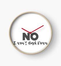Won't Back Down, Tom Petty, Word Cloud Design, I Won't Back Down Clock