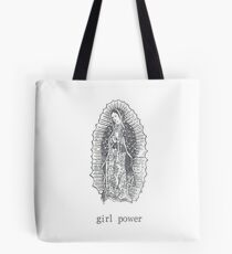 Girl Power Virgin Of Guadelupe Tote Bag