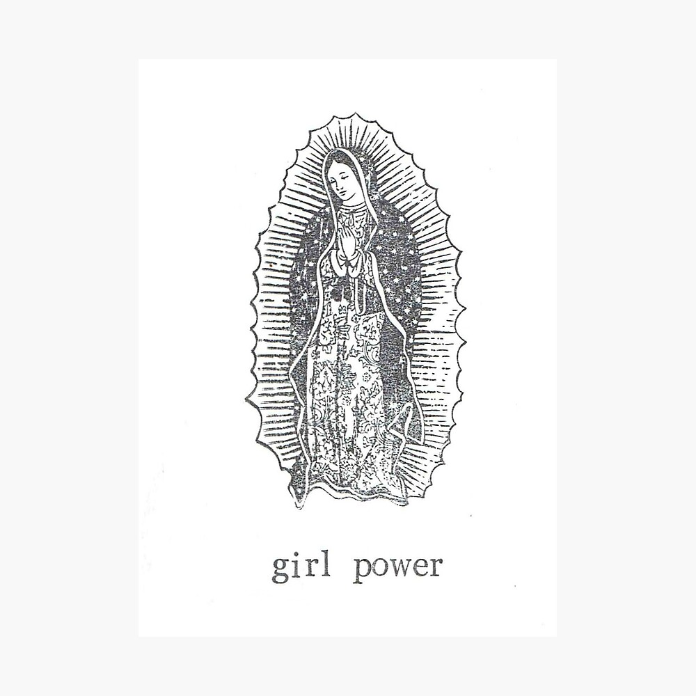 Girl Power Virgin Of Guadelupe Photographic Print