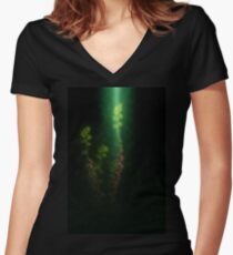 Judas Tree (Cercis siliquastrum). Photographed in the Upper Galilee Israel Women's Fitted V-Neck T-Shirt
