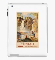 Vintage Travel Poster - Teesdale: See Britain by Train iPad Case/Skin