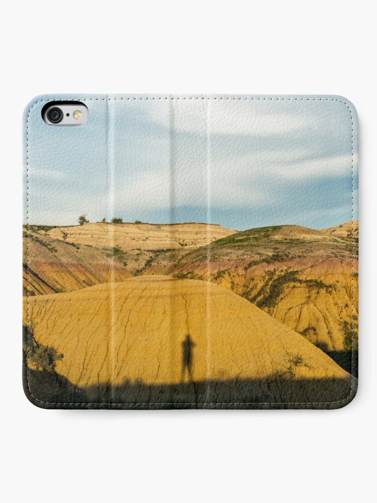 Alternate view of Yellow mounds in Badlands South Dakota iPhone Wallet