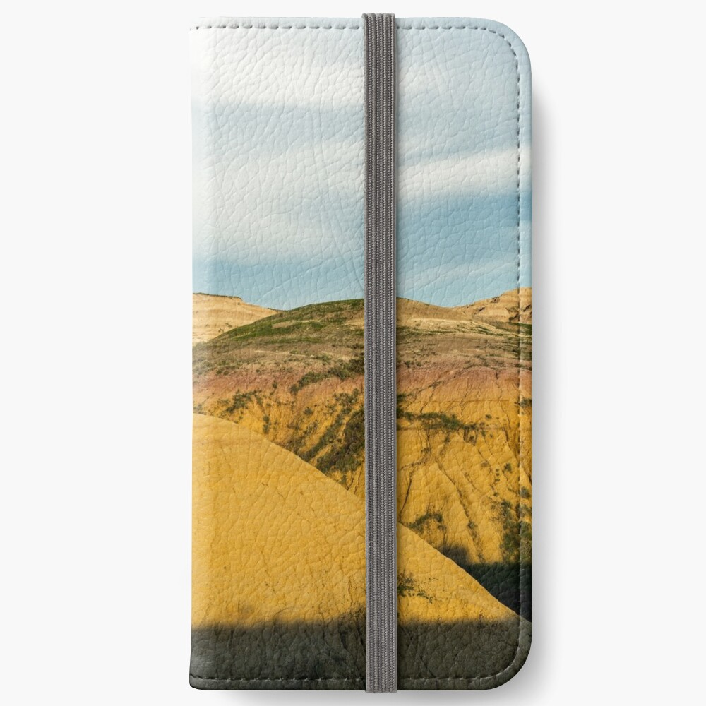 Yellow mounds in Badlands South Dakota iPhone Wallet